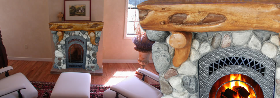 We love logs......and we have exacting standards.  So when we set out to create a faux log mantle and faux river rock fireplace surround kit that would look great, be easy to install and be near half the price of other solutions, we had our work cut out for us...